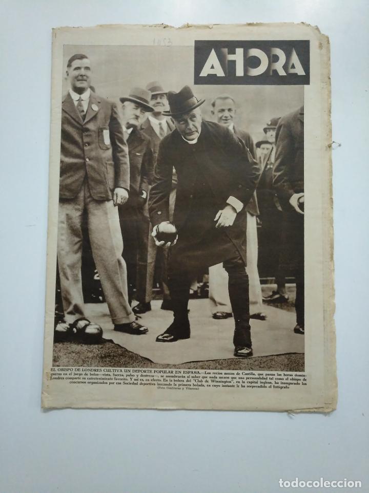 DIARIO AHORA Nº 1053. 3 MAYO DE 1934. EL OBISPO DE LONDRES CULTIVA UN DEPORTE POPULAR CAR135 (Coleccionismo - Revistas y Periódicos Antiguos (hasta 1.939))