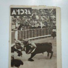 Coleccionismo de Revistas y Periódicos: DIARIO AHORA Nº 1052. 2 MAYO DE 1934. LA GRAVE COGIDA DE NICANOR VILLALTA. TOROS. CAR135. Lote 161237430