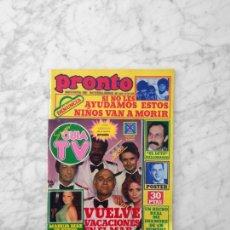 Coleccionismo de Revistas y Periódicos: PRONTO - 1979 - VACACIONES EN EL MAR, BONEY M, EL LUTE, VICTORIA VERA, BEATRIZ ESCUDERO, MARUJA DIAZ. Lote 161254278