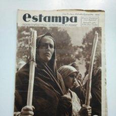 Coleccionismo de Revistas y Periódicos: ESTAMPA. REVISTA GRAFICA. Nº 350 . 22 SEPTIEMBRE DE 1934. AÑO 7. LA ROMERIA DE EMBARAZADAS. CAR135. Lote 161261910