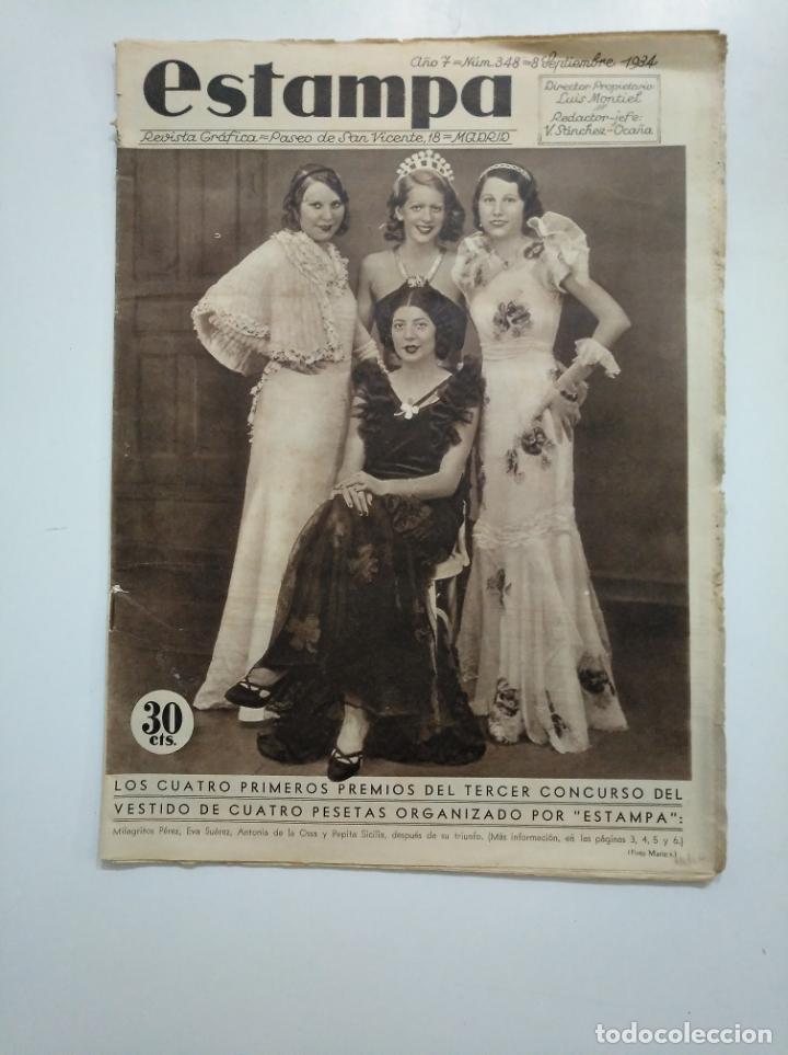 ESTAMPA. REVISTA GRAFICA. Nº 348. 8 SEPTIEMBRE DE 1934. AÑO 7. PREMIOS DEL CONCURSO. CAR135 (Coleccionismo - Revistas y Periódicos Antiguos (hasta 1.939))