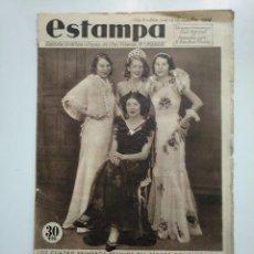 Coleccionismo de Revistas y Periódicos: ESTAMPA. REVISTA GRAFICA. Nº 348. 8 SEPTIEMBRE DE 1934. AÑO 7. PREMIOS DEL CONCURSO. CAR135. Lote 161262206