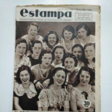 Coleccionismo de Revistas y Periódicos: ESTAMPA. REVISTA GRAFICA. Nº 347. 1 SEPTIEMBRE DE 1934. AÑO 7. CONCURSO DEL VESTIDO. CAR135. Lote 161263166