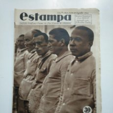 Coleccionismo de Revistas y Periódicos - ESTAMPA. REVISTA GRAFICA. Nº 345. 18 agosto DE 1934. AÑO 7. CAMPO DE CONCENTRACION DE VAGOS. CAR135 - 161263670