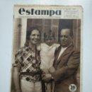 Coleccionismo de Revistas y Periódicos: ESTAMPA. REVISTA GRAFICA. Nº 344. 1 AGOSTO DE 1934. AÑO 7. GENERAL SANJURJO. CAR135. Lote 161263794