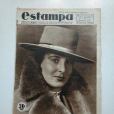 Coleccionismo de Revistas y Periódicos: ESTAMPA. REVISTA GRAFICA. Nº 340 . 14 JULIO DE 1934. AÑO 7. MUJERES TORERAS. CAR135. Lote 161264334