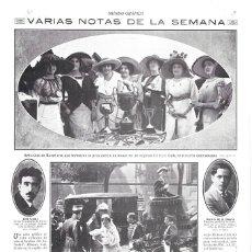 Coleccionismo de Revistas y Periódicos: 1912 HOJA REVISTA EXPOSICIÓN DE BELLAS ARTES MEDALLAS ESCULTORES JOSÉ CAPUZ Y MOISÉS DE LA HUERTA. Lote 161374318
