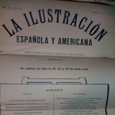 Coleccionismo de Revistas y Periódicos: REVISTA LA ILUSTRACIÓN ESPAÑOLA Y AMERICANA AÑO 1906 BELLAS ARTES. Lote 161474504