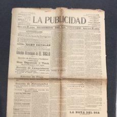 Coleccionismo de Revistas y Periódicos: DIARIO LA PUBLICIDAD 24 JULIO 1902. Lote 161593108
