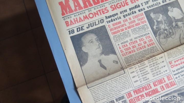 Coleccionismo de Revistas y Periódicos: PERIODICO. MARCA. TOUR FRANCIA. BAHAMONTES. 18 JULIO 1959 - Foto 2 - 161665074