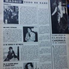 Coleccionismo de Revistas y Periódicos: FINA DE CALDERON CONCHITA VELASCO NINO BRAVO CLAUDIA CARDINALE . Lote 161670330