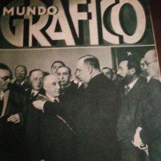 Coleccionismo de Revistas y Periódicos: MUNDO GRAFICO AÑO 1935 JEREZ MANO NEGRA-ALDEA DEL FRESNO. Lote 161675918
