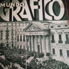 Coleccionismo de Revistas y Periódicos: MUNDO GRAFICO AÑO 1935 LA MANO NEGRA O EL TERROR DE ANDALUCIA - CATEQUESIS NUEVA BILBAO. Lote 161678730