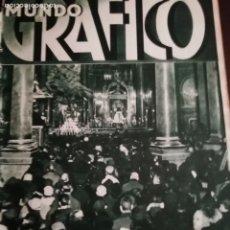 Coleccionismo de Revistas y Periódicos: MUNDO GRAFICO AÑO 1935 LA MANO NEGRA ARCOS DE LA FRONTERA - ATARANZAS BARCELONA ALDEA DEL FRESNO. Lote 161680282