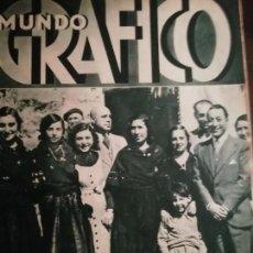 Coleccionismo de Revistas y Periódicos: MUNDO GRAFICO AÑO 1935 DESBORDAMIENTO PISUERGA- CANAL IMPERIAL GONDOLAS ZARAGOZA. Lote 161783334