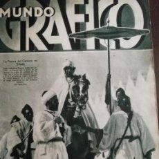 Coleccionismo de Revistas y Periódicos: MUNDO GRAFICO AÑO 1935 JOSE BONAPARTE ENTRA EN SEVILLA . Lote 161783942