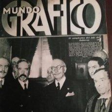 Coleccionismo de Revistas y Periódicos: MUNDO GRAFICO AÑO 1935 EL DRAMA RURAL DE CANTALEJO (SEGOVIA). Lote 161786198