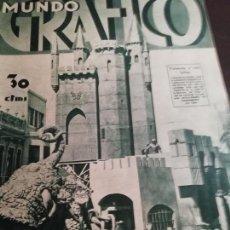 Coleccionismo de Revistas y Periódicos: MUNDO GRAFICO AÑO 1934 MURCIA -COFRADIA CATALANES SEVILLA - MONUMENTO ROBERTO TORRES CORDOBA. Lote 161847030