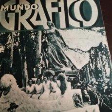 Coleccionismo de Revistas y Periódicos: MUNDO GRAFICO AÑO 1934 PANTANO DE ARLANZON-EMBRUJO DE SEVILLA-INUNDACION GUADALQUIVIR TAMARGUILLO. Lote 161862914