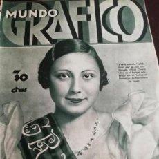 Coleccionismo de Revistas y Periódicos: MUNDO GRAFICO AÑO 1934 BURJASSOT -HALLAZGO ARQUEOLOGICO EN ASTURIAS GRADO COALLA-PUENTE SAMPAYO. Lote 161864034