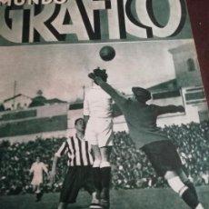 Coleccionismo de Revistas y Periódicos: MUNDO GRAFICO AÑO 1934 TRIUNFO MADRID SOBRE ATHLETIC DE BILBAO. Lote 161866318