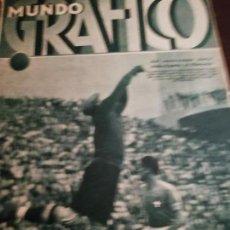 Coleccionismo de Revistas y Periódicos: MUNDO GRAFICO AÑO 1934 NAUFRAGIO AYAMONTE (HUELVA) -MADRID VIEJO LA CALLE SEGOVIA. Lote 161942674