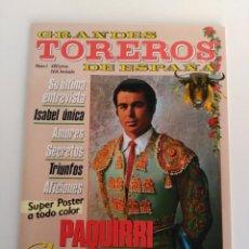 Coleccionismo de Revistas y Periódicos: REVISTA GRANDES TOREROS DE ESPAÑA, ESPECIAL PAQUIRRI. Lote 161943170