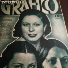 Coleccionismo de Revistas y Periódicos: MUNDO GRAFICO AÑO 1934 CATASTROFE MINERA LAMBRECHE- CASAS VIEJAS -ALMONTE-SAN BAUDILIO LLOBREGAT. Lote 161946018