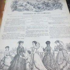 Collectionnisme de Revues et Journaux: LA MODA ELEGANTE Nº 41 PERIODICO DE LAS FAMILIAS AÑO XXVII NOVIEMBRE 1868 SIGLO XIX. Lote 161997562
