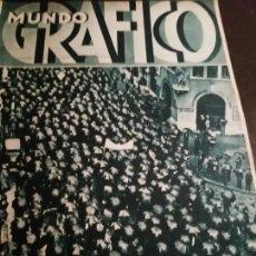 Coleccionismo de Revistas y Periódicos: MUNDO GRAFICO AÑO 1934 FOGUERAS ALICANTINAS - MANIFESTACION ANTIFASCISTA EN BARCELONA. Lote 162017154