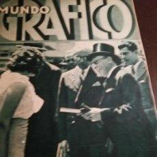Coleccionismo de Revistas y Periódicos: MUNDO GRAFICO AÑO 1934 JULIAN GAYARRE ORFEON PAMPLONES. Lote 162017326