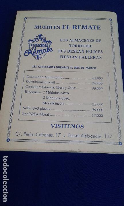 Coleccionismo de Revistas y Periódicos: LLIBRET 30 ANIVERSARIO FALLA MARQUES MONTORTAL -BERNI - Foto 5 - 162031594
