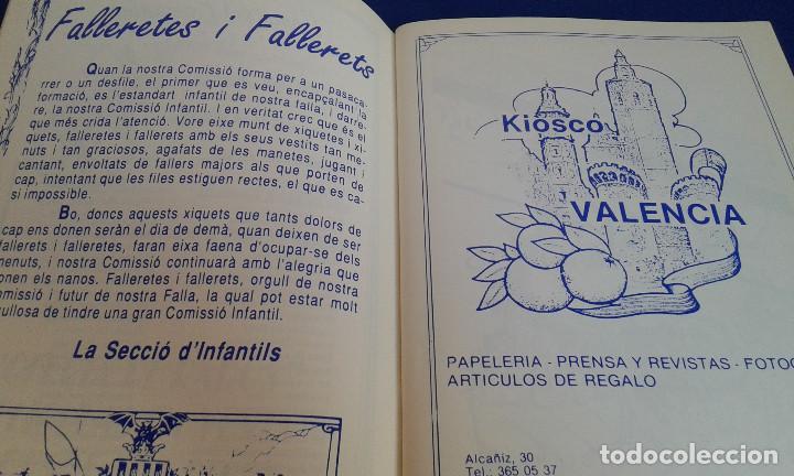 Coleccionismo de Revistas y Periódicos: LLIBRET 30 ANIVERSARIO FALLA MARQUES MONTORTAL -BERNI - Foto 4 - 162031594