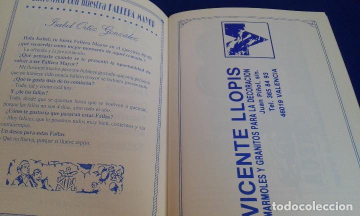 Coleccionismo de Revistas y Periódicos: LLIBRET 30 ANIVERSARIO FALLA MARQUES MONTORTAL -BERNI - Foto 2 - 162031594