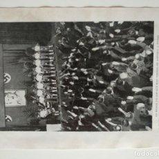 Coleccionismo de Revistas y Periódicos: HOJA REVISTA ORIGINAL AÑOS 30.ACTO HONOR NAZIS HITLER ALEMANIA PLEBISCITO EL SARRE. Lote 162034562
