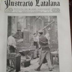 Coleccionismo de Revistas y Periódicos: ILUSTRACIO CATALANA Nº385 1910 FOTO GRAN VIA FIS A LA PLAÇA DEL ANGEL EL 1915. Lote 162035350