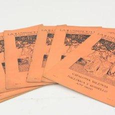 Coleccionismo de Revistas y Periódicos: REVISTA LA ILUSTRACIÓ LLEVANTINA, 1900, AÑO 1, 8 NÚMEROS, CATALUNYA, VALÈNCIA, MALLORCA, ROSSELLÓ.. Lote 162157394