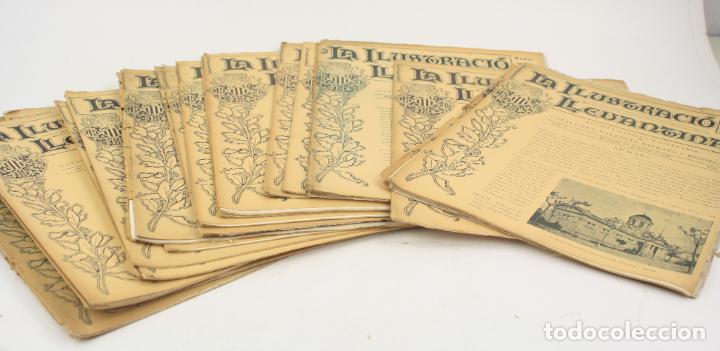 REVISTA LA ILUSTRACIÓ LLEVANTINA, NÚMEROS DEL 1 AL 24, AÑOS 1900 - 1901. 37X29CM (Coleccionismo - Revistas y Periódicos Antiguos (hasta 1.939))