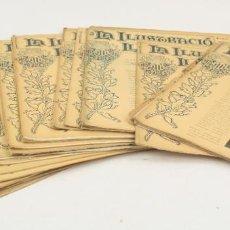 Coleccionismo de Revistas y Periódicos: REVISTA LA ILUSTRACIÓ LLEVANTINA, NÚMEROS DEL 1 AL 24, AÑOS 1900 - 1901. 37X29CM. Lote 162161398