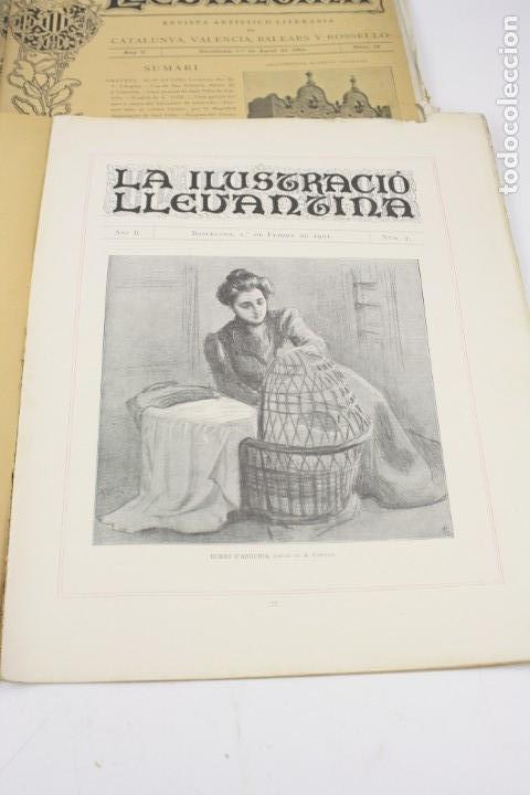 Coleccionismo de Revistas y Periódicos: Revista la ilustració llevantina, números del 1 al 24, años 1900 - 1901. 37x29cm - Foto 4 - 162161398