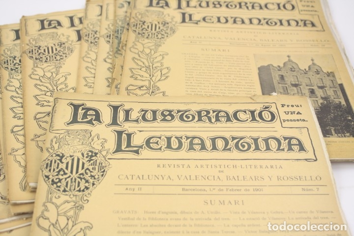 Coleccionismo de Revistas y Periódicos: Revista la ilustració llevantina, números del 1 al 24, años 1900 - 1901. 37x29cm - Foto 2 - 162161398