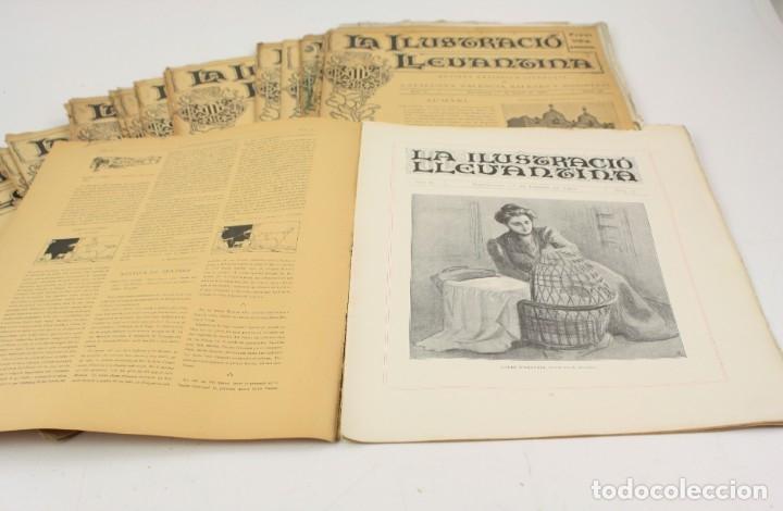Coleccionismo de Revistas y Periódicos: Revista la ilustració llevantina, números del 1 al 24, años 1900 - 1901. 37x29cm - Foto 3 - 162161398