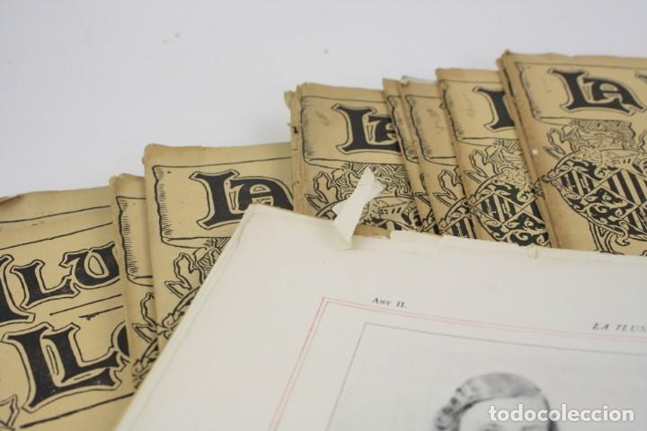 Coleccionismo de Revistas y Periódicos: Revista la ilustració llevantina, números del 1 al 24, años 1900 - 1901. 37x29cm - Foto 5 - 162161398