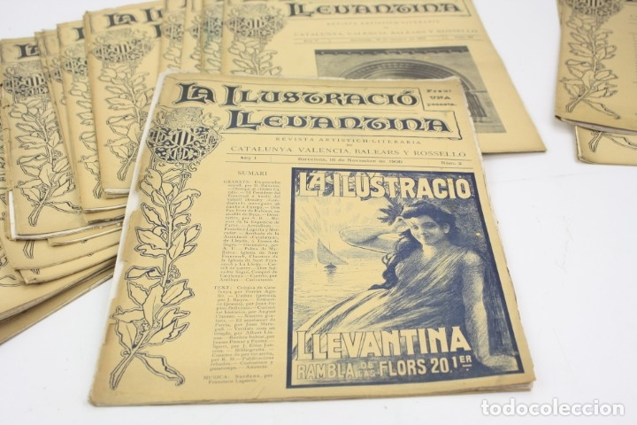 Coleccionismo de Revistas y Periódicos: Revista la ilustració llevantina, números del 1 al 24, años 1900 - 1901. 37x29cm - Foto 6 - 162161398