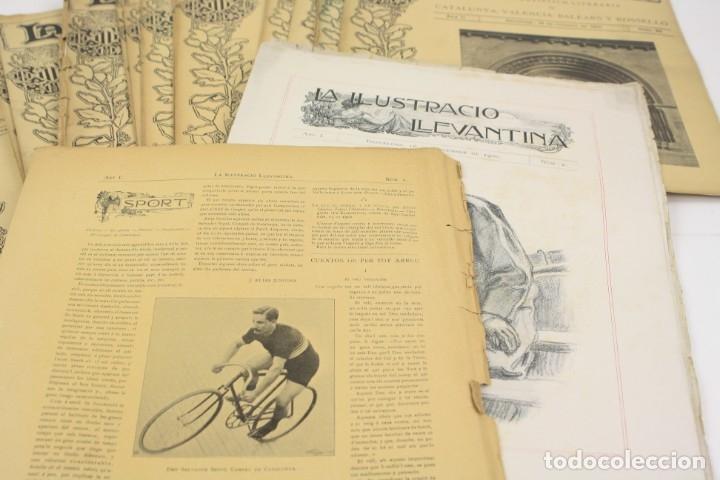 Coleccionismo de Revistas y Periódicos: Revista la ilustració llevantina, números del 1 al 24, años 1900 - 1901. 37x29cm - Foto 7 - 162161398