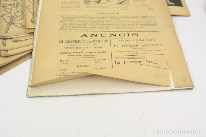 Coleccionismo de Revistas y Periódicos: Revista la ilustració llevantina, números del 1 al 24, años 1900 - 1901. 37x29cm - Foto 8 - 162161398