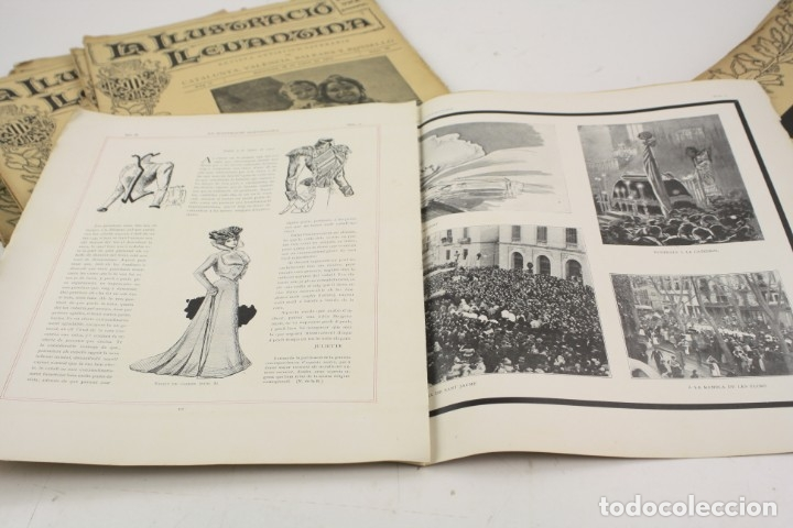 Coleccionismo de Revistas y Periódicos: Revista la ilustració llevantina, números del 1 al 24, años 1900 - 1901. 37x29cm - Foto 9 - 162161398