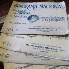Coleccionismo de Revistas y Periódicos: 5 PANORAMA NACIONAL BELLEZAS DE ESPAÑA Y SUS COLONIAS .H . MIRALLES Nº 5 -8-14-3- 13. Lote 162163610
