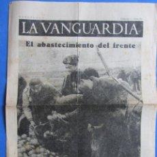 Coleccionismo de Revistas y Periódicos: LA VANGUARDIA. GUERRA CIVIL TERUEL. DOMINGO 10 ENERO 1937. HOGAR FRANCES ANTIFASCISTA.. Lote 162288202
