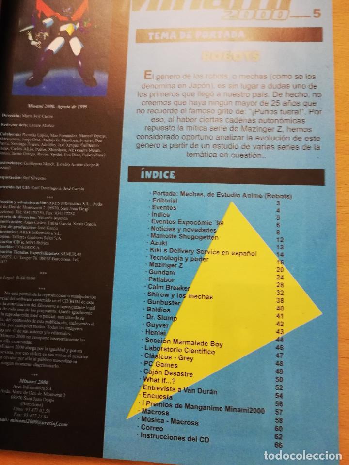 Coleccionismo de Revistas y Periódicos: MINAMI 2000. REVISTA DE CÓMICS Y DIBUJOS ANIMADOS JAPONESES (Nº 5) - Foto 2 - 162317682
